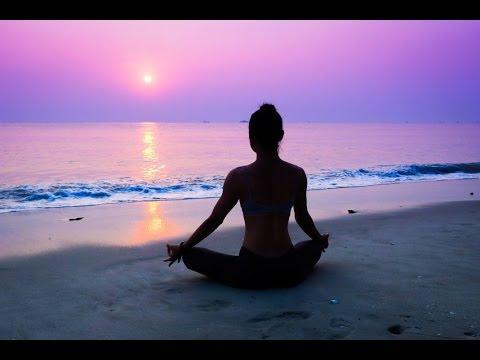 relaxed beach yoga
